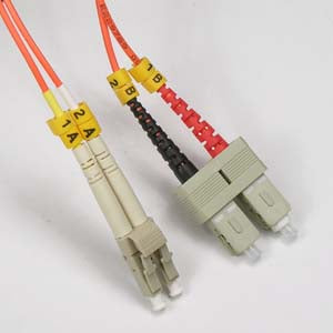 LC-SC Multimode OM2 Duplex 50/125 Fiber Patch Cable, UL, ROHS