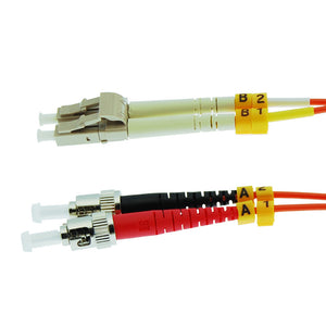 LC-ST Multimode OM1 Duplex 62.5/125 Fiber Patch Cable, UL, ROHS