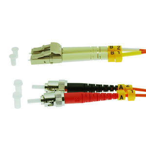 LC-ST Multimode Duplex 62.5/125 Fiber Optic Cable