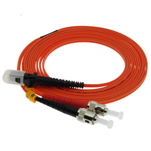 MTRJ-ST Multimode Duplex 62.5/125 Fiber Optic Cable