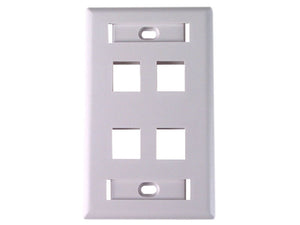 Dynacom Flush-Port ID Window Wallplate