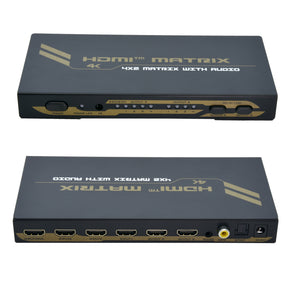 4x2 HDMI Matrix Switch with Audio 4K @ 30Hz