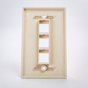 3 Port Keystone Wall Plate Beige Back