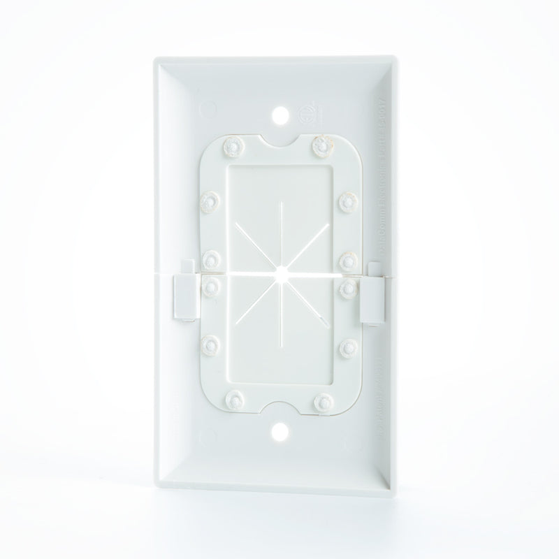 DataComm Split Wall Plate with Flexible Opening