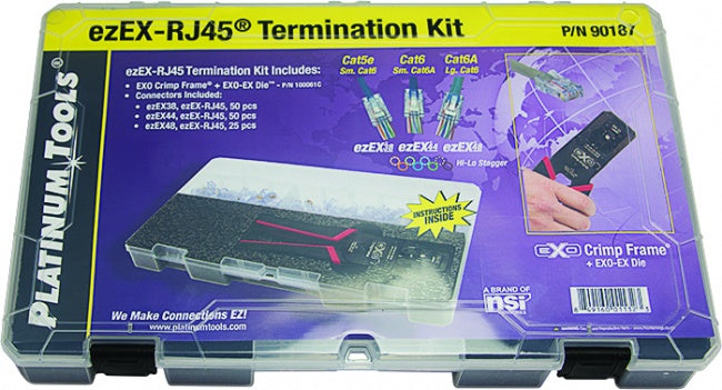 Platinum Tools 90187 ezEX-RJ45 Termination Kit