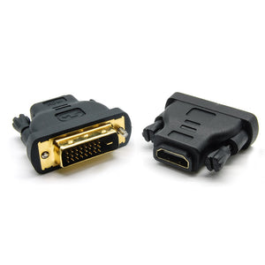 DVI to HDMI Adapter - Female HDMI to DVI Male, Bidirectional