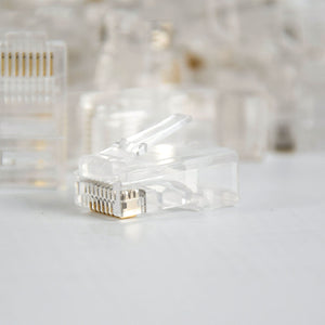 Vertical Cable Cat5E RJ45 Modular Feed Through Plug