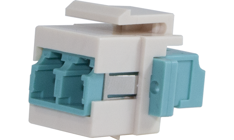 Techlogix Networx M4D-KS-LCLC Fiber optic keystone adapter -- duplex LC to LC -- OM3/OM4