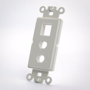 Vanco 820325 Dual F Port and Keystone Plate