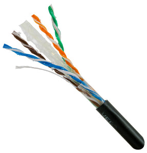 Vertical Cable 1000ft Solid Outdoor Cat6 Cable - 23AWG UTP Direct Burial Flooded Core Internal