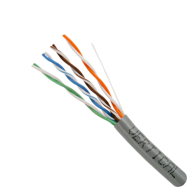 Vertical Cable 1000ft Solid Cat5E Cable - 24AWG 350MHz CMR Bare Copper Bulk Ethernet