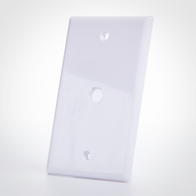 Blank Wall Plate for F Coupler
