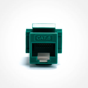 Cat6 Keystone Jack - Toolless, Green Image 3