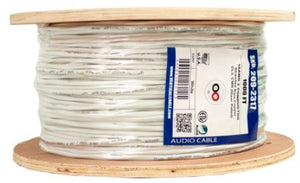 Vertical Cable 1000ft 16 Gauge In-Wall Speaker Wire - CL3 16/2, White