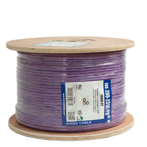 Vertical Cable High Strand Audio Cable,  PVC Jacket, 16AWG, 4 Conductor, Stranded (65 Strand), 1000ft, Spool, Purple