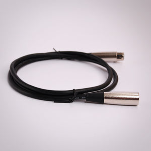 Hosa Microphone Cable | XLR3F to XLR3M Side View
