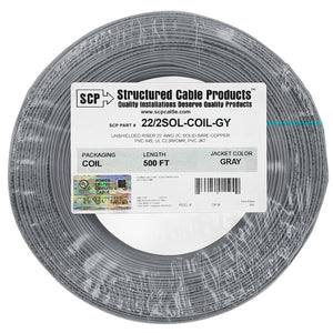 SCP 2C/22 AWG SOLID COPPER PVC COIL PACK Security Alarm Cable - 500 FT