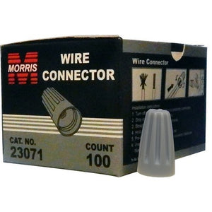Morris 23071 Screw-On Wire Connectors P1 Gray Boxed 100 Pack
