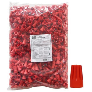 Morris 23176 Screw-On Wire Connectors P6 Red Bagged 500 Bulk Pack
