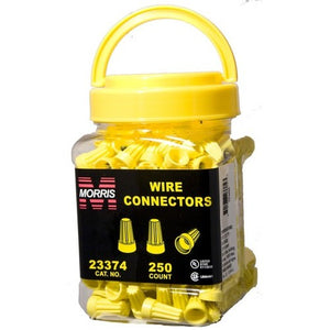 Morris 23374 Screw-On Wire Connectors P4 Yellow Small Jar