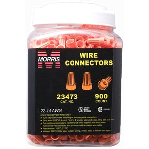 Morris 23473 Screw-On Wire Connectors P3 Orange Large Jar