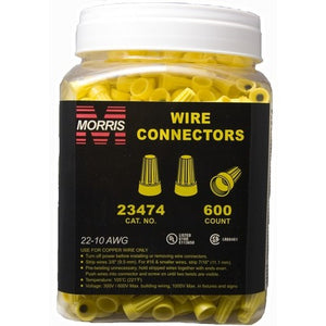 Morris 23474 Screw-On Wire Connectors P4 Yellow Large Jar