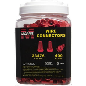 Morris 23476 Screw-On Wire Connectors P6 Red Large Jar