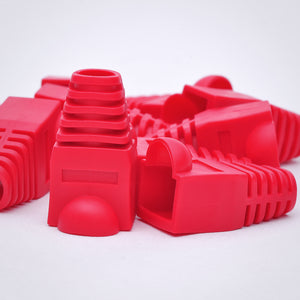 RJ45 Strain Relief Boots - 100 Pack, Red Image 4