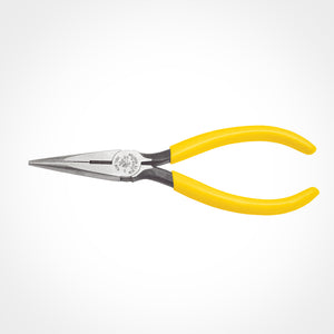 Klein Tools 6 Inch (152mm) Standard Long-Nose Pliers - Side-Cutting