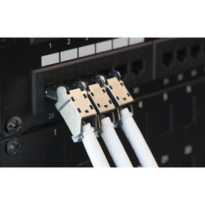 Flex Connectors in Use on Patch Panel