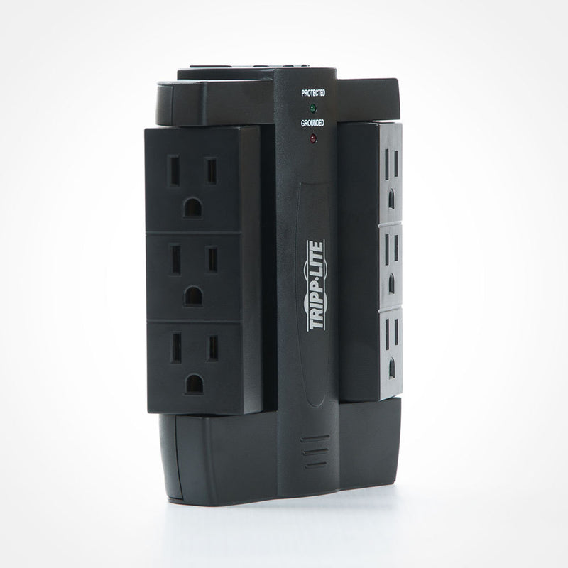 Tripp-Lite 6-Outlet Surge Protector with Swivel Outlets - 1500 Joules