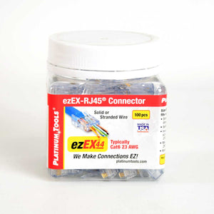 Platinum Tools Cat6 ezEX™48 ezEX-RJ45® Connector 100 Pack