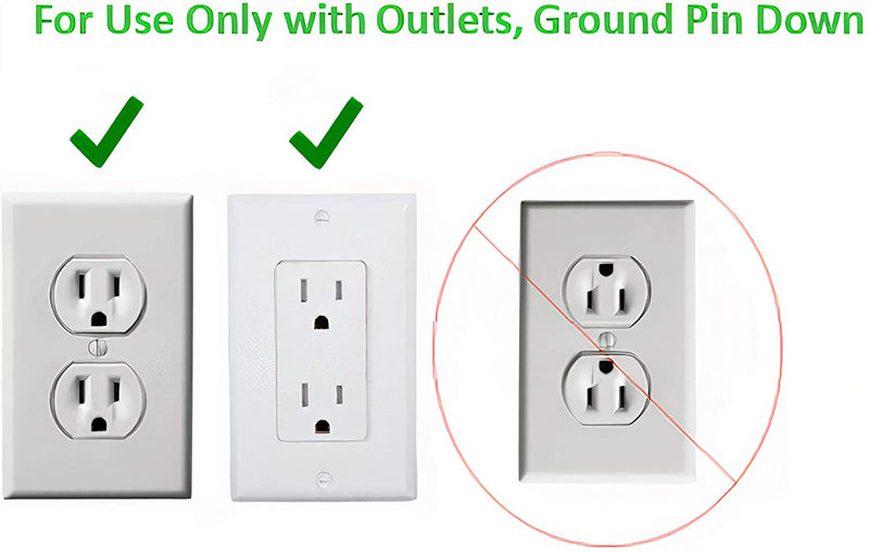 Sleek Socket Ultra-Thin Electrical Outlet Cover with 3 Outlet Power Strip and Cord Management Kit