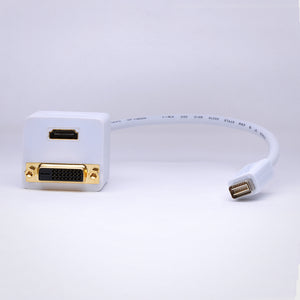 1ft Mini DVI to DVI and HDMI Adapter Cable