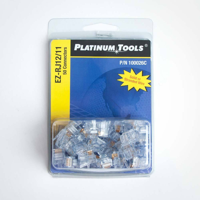 Platinum Tools EZ-RJ11/12 Connectors - 50pk