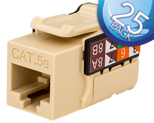 Vertical Cable Cat5E Keystone Jack 25 Pack