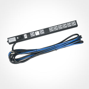 Middle Atlantic PD-815SC-20 - 8 Outlet 15A Slim Power Strip with 20 ft. Cord @ Firefold.com