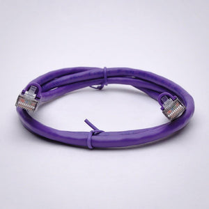 Cat6 Shielded Ethernet Patch Cable, Snagless Boot, Purple