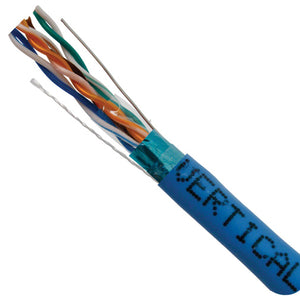 Cat5E Cable In Solid Shield & Copper In Blue - Internal