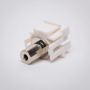 3.5mm Keystone Jack - Stereo Coupler, White Right