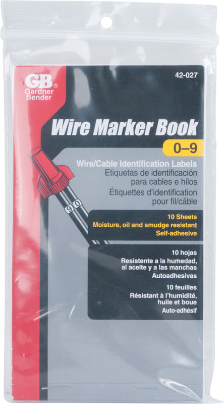 Gardner Bender Pocket Pack Wire Markers (numbers 0-9), 42-027