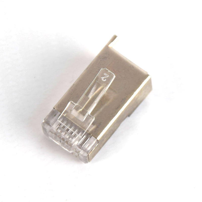 Vertical Cable 011-020G-100 Cat5E RJ45 Shielded Modular Plug w/ Ground