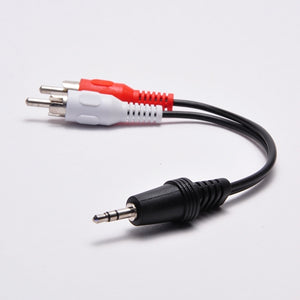 3.5mm Stereo Male to (2) RCA Male Adapter - 6 Inch Cable Image 3