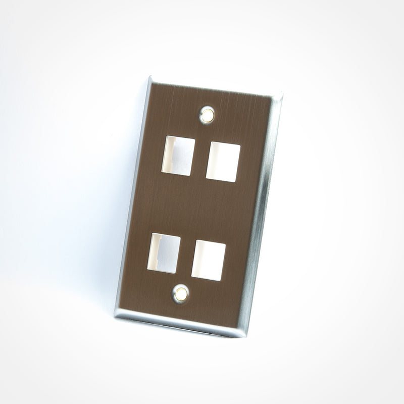 ICC Stainless Steel Keystone Wall Plate