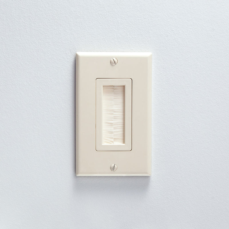 Vanco Decor Style Brush Bulk Cable Wall Plate