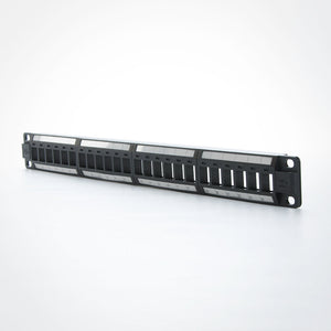 Quest NBP-2224 24 Port CAT6 Unloaded High Density Keystone Patch Panel at FireFold.com