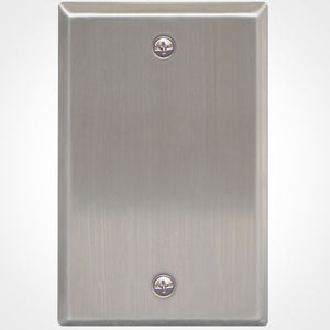 ICC IC630EBSSS 1 Gang Blank Stainless Steel Wall Plate