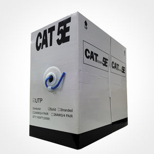Vertical Cat5e Bulk Cable with 24AWG 100MHz CCA - Blue