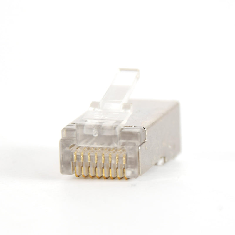 Vertical Cable Cat5E RJ45 Shielded Feed Through Plug 100 Pack