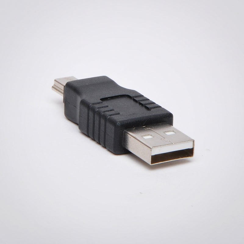 USB Type A Male to 5-Pin Mini-USB Type B Male Adapter
